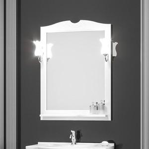 Зеркало в деревянной раме Opadiris Тибет 80 белый матовый, для светильников Z0000006243 (Z0000012654)