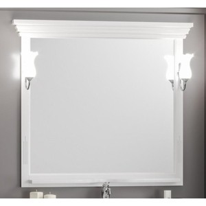 Зеркало в деревянной раме Opadiris Риспекто 105 белый матовый, для светильников Z0000006243 (Z0000012655) opadiris риспекто 100 зеркало тумба р46