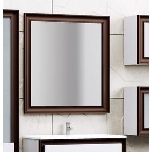 Зеркало в деревянной раме Opadiris Капри 80 белый, с подсветкой и сенсорным выключателем (Z0000003919) зеркало opadiris тора 28 с подсветкой и выключателем z0000003002