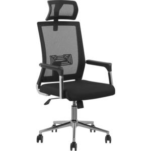Кресло Стимул-групп CTK-XH-6125 CH Bl (черный пластик) black (черная сетка) от ТЕХПОРТ