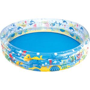 Надувной бассейн Bestway круглый Подводный мир (51005) 183х33 см бассейн детский круглый подводный мир 196х53см 700л bestway