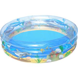 Надувной бассейн Bestway круглый Морская жизнь (51046) 201х53 см бассейн круглый на стойках 366х122 см bestway 56420