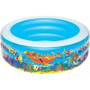 Надувной бассейн Bestway круглый Подводный мир (51123) 229х56 см бассейн детский круглый подводный мир 196х53см 700л bestway