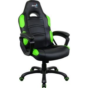 Кресло для геймера Aerocool AC80C AIR-BG черно-зеленое с перфорацией шапка truespin jersey beanie black