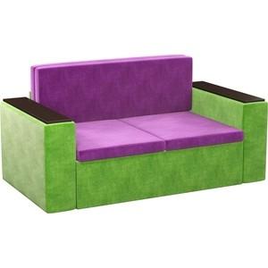 Детский диван АртМебель Арси микровельвет фиолетово-зеленый арси для автокресла бабочка розовый