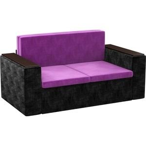 Детский диван АртМебель Арси микровельвет фиолетово-черный арси для автокресла бабочка розовый