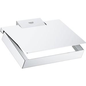 Держатель туалетной бумаги Grohe Selection Cube с крышкой (40781000) держатель туалетной бумаги grohe sinfonia 40053000