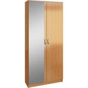 Шкаф двухдверный с зеркалом Мастер Ольга (бук) МСТ-ПДО-Ш2-БК-З1 бк 30 магнит доска