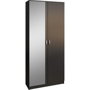 Шкаф двухдверный с зеркалом Мастер Ольга (венге) МСТ-ПДО-Ш2-ВМ-З1