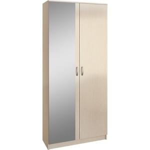 Шкаф двухдверный с зеркалом Мастер Ольга (дуб молочный) МСТ-ПДО-Ш2-ДМ-З1