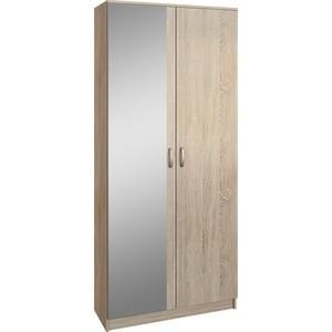 Шкаф двухдверный с зеркалом Мастер Ольга (дуб сонома) МСТ-ПДО-Ш2-ДС-З1