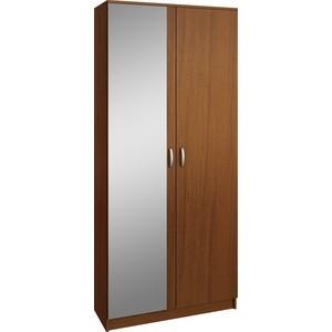 Шкаф двухдверный с зеркалом Мастер Ольга (орех) МСТ-ПДО-Ш2-ОР-З1