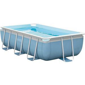 Каркасный бассейн Intex Prism Frame 300x175x80 см (Сборный каркасный бассейн серии Intex Prism Frame прямоугольной формы с фильтр-насосом и лестн) 3539л бассейн intex аквариум с надувным полом 152х56 см 58480np