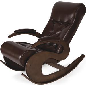 Кресло-качалка Мебелик Тенария 6 темно-коричневый мебелик дуэт 6 чёрный тонированное