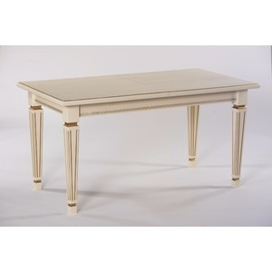 Стол обеденный Мебелик Васко 02 слоновая кость/патина 150x80 пенал для ванной aquaton беатриче 1a187403bem6r правый слоновая кость патина