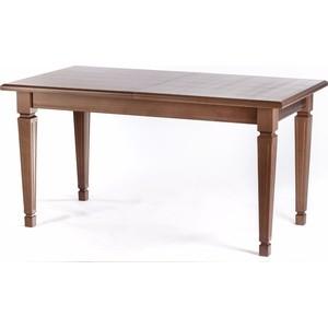 Стол обеденный Мебелик Васко 03 орех 150/200x80 стол обеденный опора металл орех монпелье 432903 шатура столы обеденные