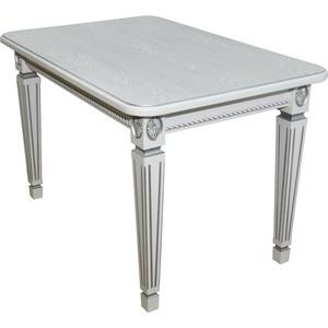 Стол обеденный Мебелик Меран 02 белый/патина 150х80 стол обеденный дэфо фа молочный золотая патина