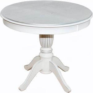 Стол обеденный Мебелик Моро 03 белый/патина 90/120x90 стол обеденный дэфо фа молочный золотая патина