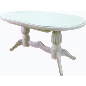 Стол обеденный Мебелик Рифей 01 белый/патина 160/200x90 стол обеденный дэфо фа молочный золотая патина