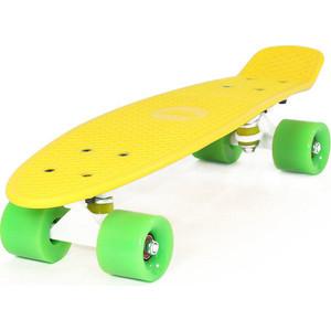 Скейтборд Hubster Cruiser 22 желтый с зелеными колесами 9284П эвалар турбослим день усиленная формула 30 капсулы