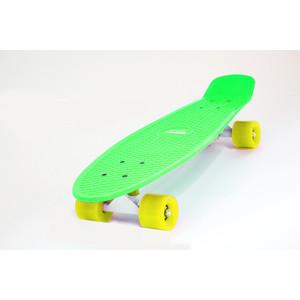 Скейтборд Hubster Cruiser 22 зеленый с желтыми колесами 9285П скейтборд hubster cruiser 22 желтый с зелеными колесами 9284п