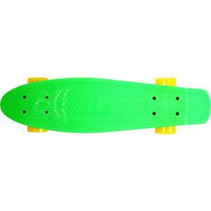 Скейтборд Hubster Cruiser 27 зеленый с желтыми колесами 9381П