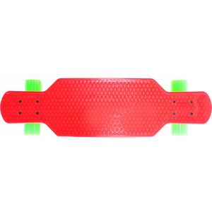 Скейтборд Hubster Cruiser 29 красный с зелеными колесами 9386П скейтборд hubster cruiser 22 желтый с зелеными колесами 9284п
