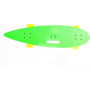 Скейтборд Hubster Cruiser 36 зеленый с желтыми колесами 9387П пенни борд hubster cruiser 22 metallic purple