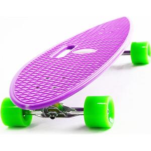 Скейтборд Hubster Cruiser 36 фиолетовый с зелеными колесами 9384П красная фасоль hodo мужчин бизнес случайный простой носорог складки костюмы мужчины брюки b5 владение зелеными 36