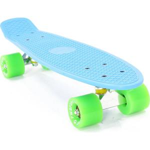 Скейтборд PWSport Classic 22 синий-зеленый ВО3775-3 скейтборд pwsport grip 22 sunset