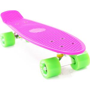 Скейтборд PWSport Classic 22 розовый-зеленый ВО3775-5 скейтборд pwsport grip 22 sunset