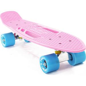 """Скейтборд PWSport Fish 22"""" розовый ВО3778-2"""