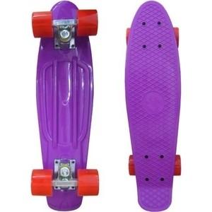 Скейтборд Ecobalance Ecobalance фиолетовый с красными колесами ОВ-2161 цены