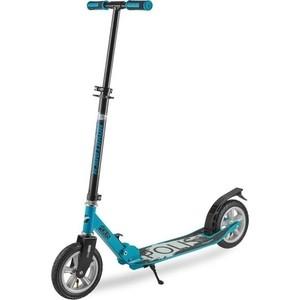 Самокат городской NOVATRACK POLIS max 100кг надувные колеса 200 мм синий