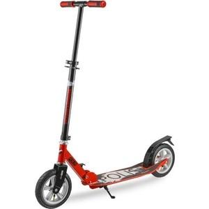 Самокат городской NOVATRACK POLIS max 100кг надувные колеса 200 мм красный