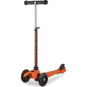 Самокат-кикборд NOVATRACK Disco-kids детский max 25кг черно-оранжевый
