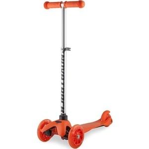 Самокат-кикборд NOVATRACK Disco-kids детский max 25кг оранжевый