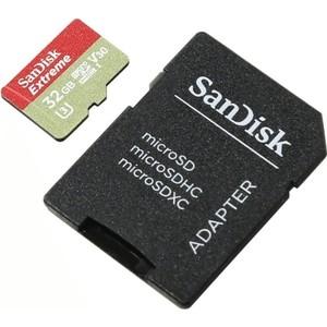 Карта памяти Sandisk Extreme microSDHC 32GB 100MB/s A1 C10 V30 UHS-I U3 (SDSQXAF-032G-GN6AA) borg illinois diy 10ml