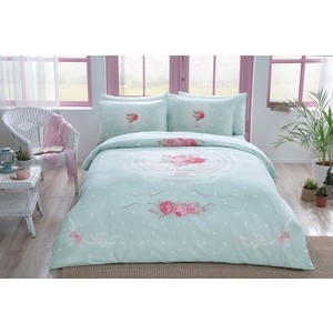 Комплект постельного белья TAC 2-х сп, ранфорс, Diane V06-mint, мятный (3044-68076) комплект постельного белья tac 1 5 сп ранфорс diane v06 mint мятный 3040 68074