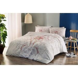 Комплект постельного белья TAC 2-х сп, ранфорс, Yasmin V02-pembe, розовый (3044-56557) комплект постельного белья tac 1 5 сп ранфорс diane v06 mint мятный 3040 68074