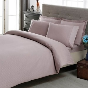 Комплект постельного белья TAC King size, сатин-жаккард Stripe king-lila, лиловый (4053-17195)