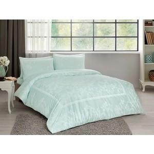 Комплект постельного белья TAC 2-х сп, сатин, Clara V52-mint, мятный (4044-67723) комплект постельного белья tac 1 5 сп ранфорс diane v06 mint мятный 3040 68074