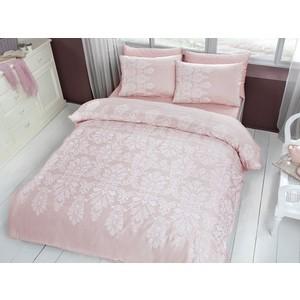 Комплект постельного белья TAC 2-х сп, сатин, Esther V53-pudra, розовый (4044-67724) комплект постельного белья tac 2 х сп сатин s nikas посещение розовыми фламингами волшебного замка 4248 89203