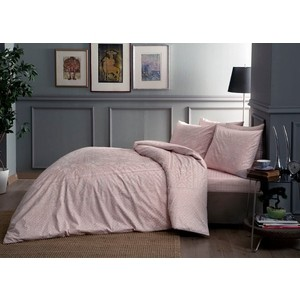 Комплект постельного белья TAC 2-х сп, сатин, Fabian V52-pembe, розовый (4044-54136) комплект постельного белья tac 2 х сп сатин s nikas посещение розовыми фламингами волшебного замка 4248 89203