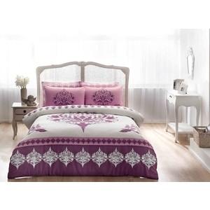 Комплект постельного белья TAC 2-х сп, сатин, Venna V05-murdum, фиолетовый (4044-27318) комплект постельного белья tac 2 х сп сатин s nikas посещение розовыми фламингами волшебного замка 4248 89203