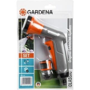 Пистолет-распылитель для полива Gardena Classic, коннектор с автостопом (18312-33.000.00) коннектор gardena с регулятором