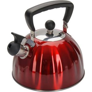 Чайник 2.5 л со свистком Regent Promo (94-1506) чайник regent inox linea promo со свистком цвет красный 2 5 л