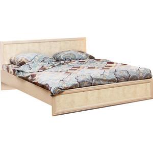 Кровать двойная Олимп 06.02 Волжанка дуб линдберг/крок кремовый