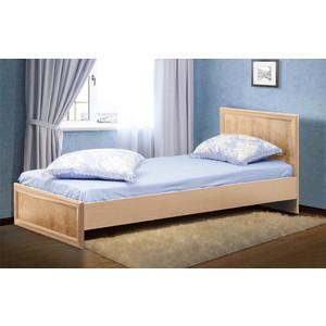 Кровать двойная Олимп 06.258 Волжанка дуб линдберг/крок кремовый 90x200