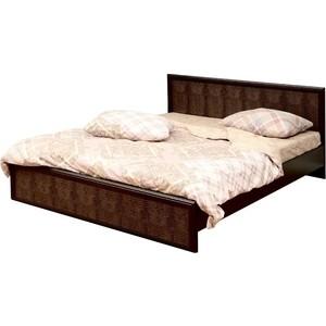Кровать Олимп 06.259 Волжанка венге/крок коричневый 140x200